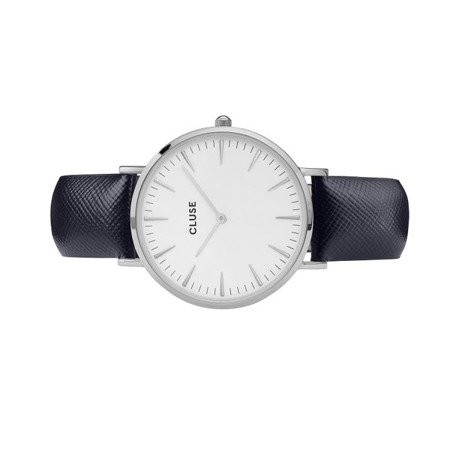Zegarek damski Cluse La Bohème Silver White/Midnight Blue CL18232