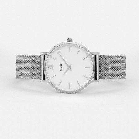 Zegarek damski Cluse Minuit Mesh Silver/White CL30009
