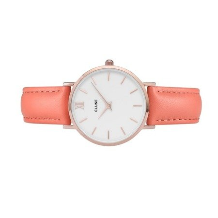 Cluse Minuit Rose Gold White/Flamingo CL30045