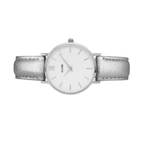 Cluse Minuit Silver White/Silver Metallic CL30039