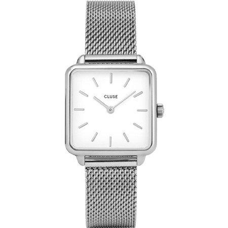 Zegarek damski Cluse La Tetragone Mesh White Silver CL60001